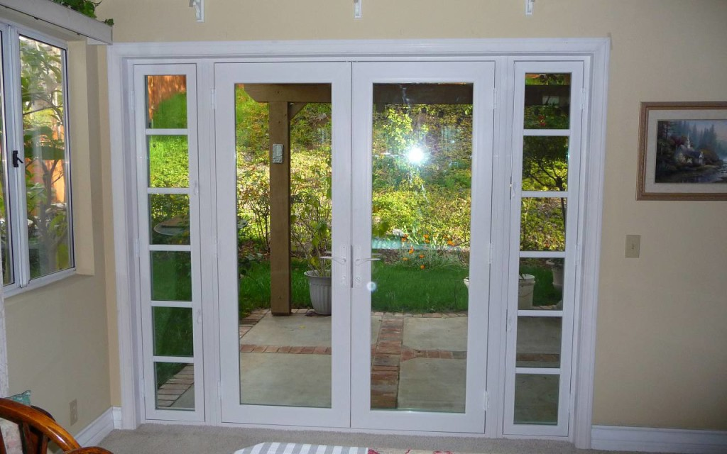 vinyl patio doors and french doors French double swing door abc windows toledo ohio