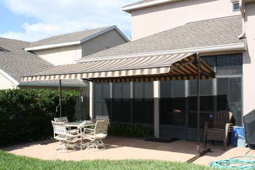 Abc Windows sunsett oasis free standing retractable awnings toledo ohio