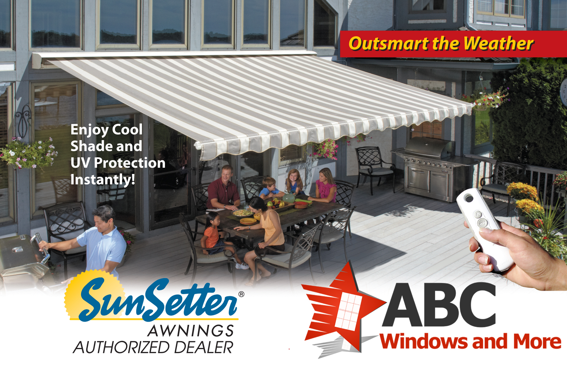 Motorized Retractable Awnings - ABC Windows And More